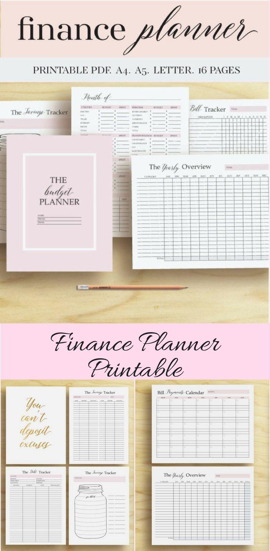 finance planner money organizer finance printable budget planner