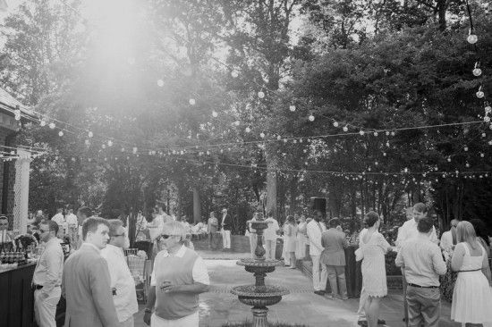 Backyard Wedding Reception Lighting
