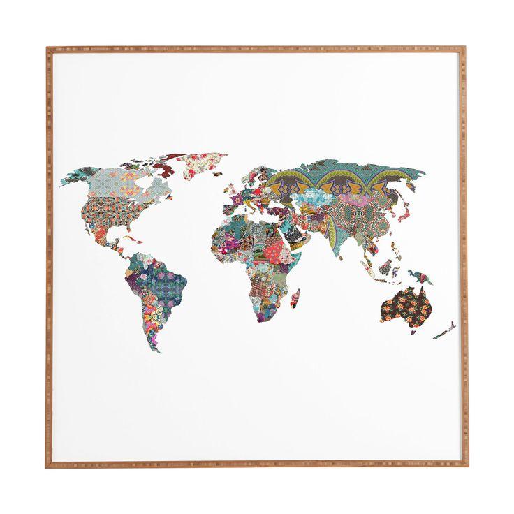 Map of the World Art Print | dotandbo.com