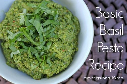 Basic Basil Pesto | Pesto Recipe, Pesto and Basil