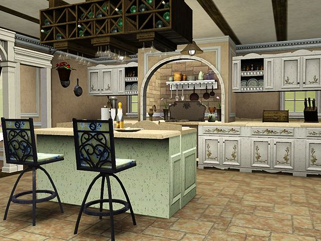 Sims kitchen interior design pinterest posts the for Sims 3 kitchen designs