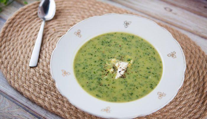 Roast Garlic, Potato and Spinach Soup | Good Chef Bad Chef