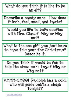 Adorable writing prompts for December. FREEBIE