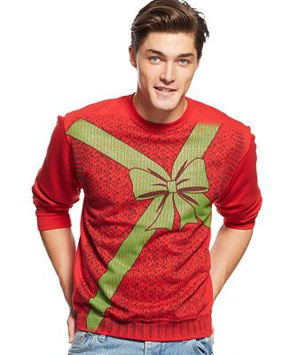 Be everyone's gift with this American Rag Packaged Present Sweater for only $29.99 at Macy's CA@swagbucks  #CandyCaneGang #UglySweater(enya1201)