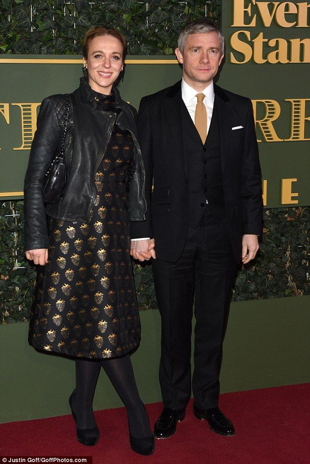 Amanda and Martin on the red carpet at theEvening Standard Theatre Awards 2015.22. November 2015