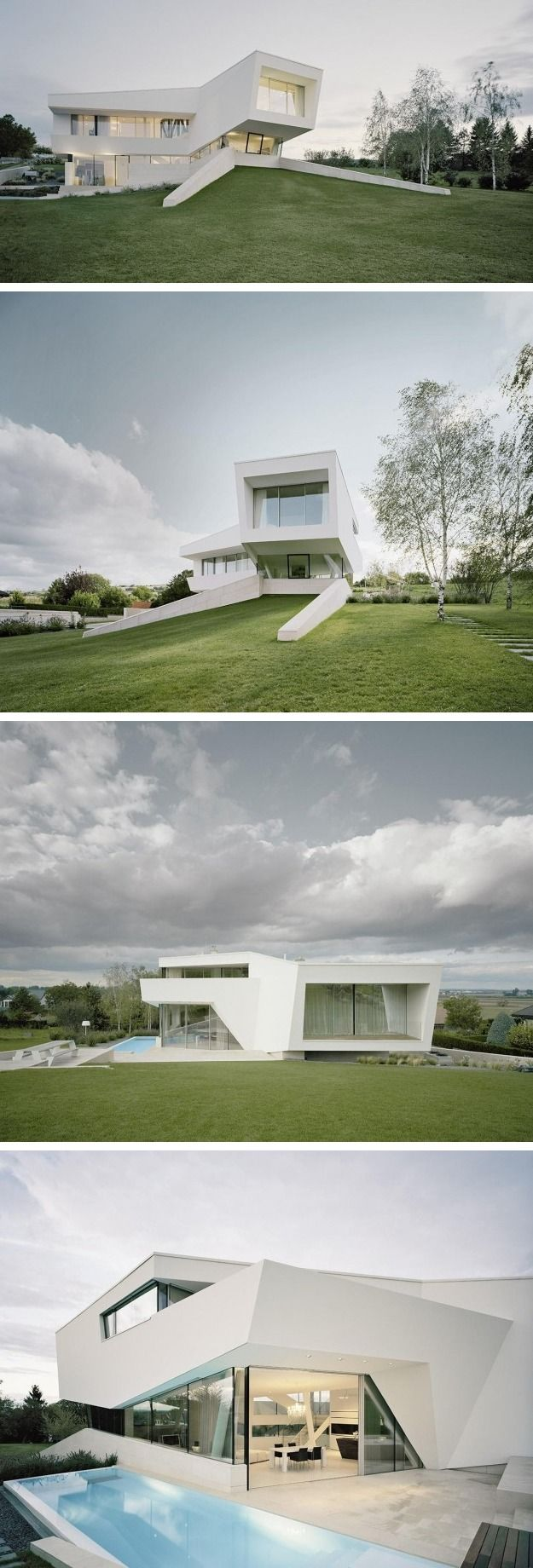 Project A01 Architects designed the Villa Freundorf for a family near Vienna, Austria.