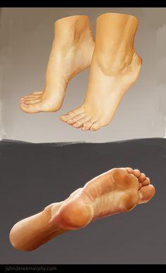 Feet study 1, John Derek Murphy on ArtStation at http://www.artstation.com/artwork/feet-study-1