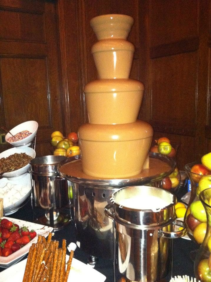Giant Chocolate Fondue Fountain And Caramel Fountain With