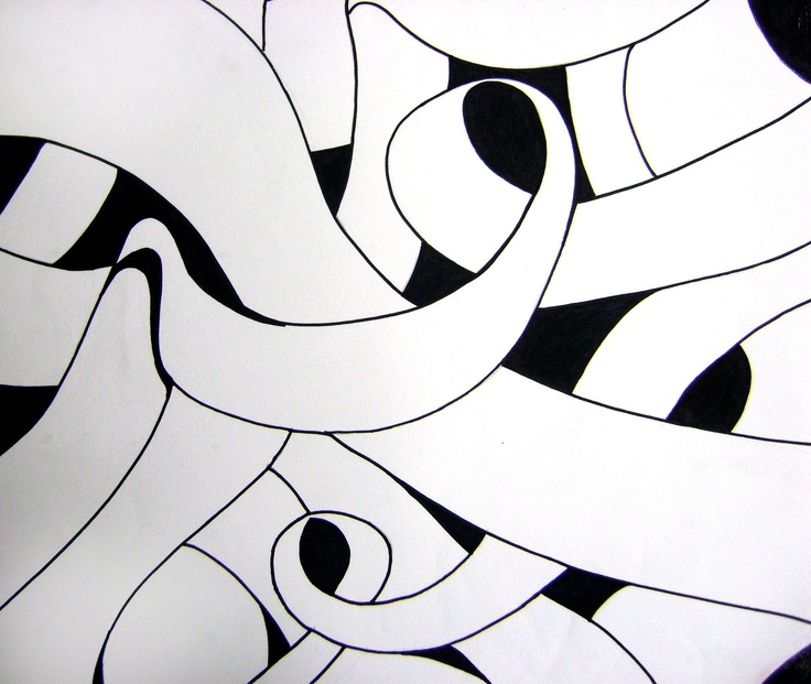 Curved Line Design Art : Best ideas about negative space art lesson on