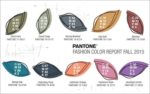Pantone® 2015年秋のトレンドカラー