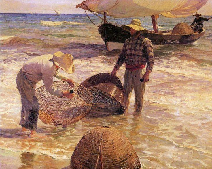 Joaquin Sorolla y Bastida Valencian Fisherman art Painting