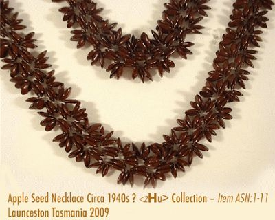 Apple seed  necklace