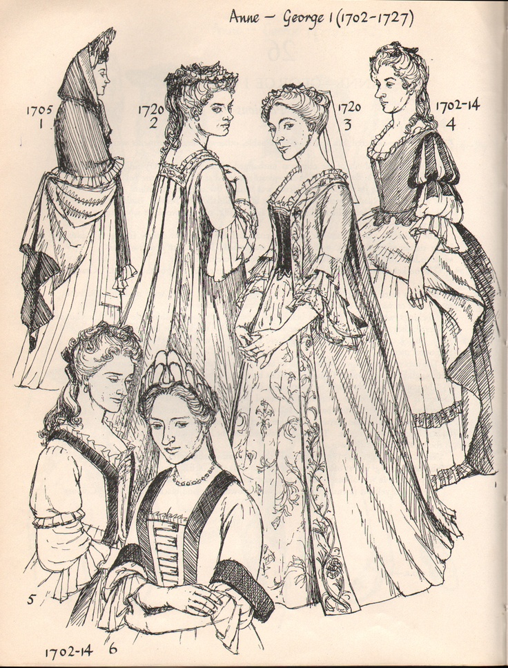 Early 1700's Women's Fashion. | fashion through time ...