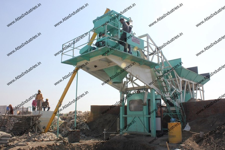 30 m3/hr. mobile RMC plant is built on a single chassis.