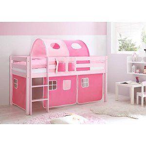 Halfhoogslaper Malte - massief grenen - roze gelakt - kleur roze-pink - zonder tunnel