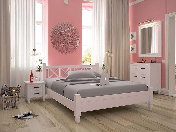 Прекрасная кровать Прованс 160х200 станет изюминкой Вашего интерьера, придаст ему обворожительности и совершенства. Модель очень оригинальная, благодаря своему необычному изголовью с крестообразными формами, похожими на снежинки. Изножье у кровати невысок