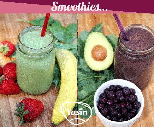 Inulina de Agave Yasin te da dos opciones de Smoothies para beber después de un periodo de hacer ejercicio, dinos ¿cuál prefieres tu?