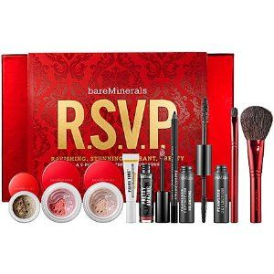 bareMinerals bareMinerals R.S.V.P. 9-Piece Invitation To Gorgeous Collection by Bare Escentuals. $58.25. You are cordially invited to the most beautiful party of the year with R.S.V.P., our 9-piece face, eye and lip collection that will leave you Ravishing, Stunning, Vibrant & Pretty. You'll get our fabulous Round the ClockTM Waterproof Eyeliner before it even hits the shelves. So make an entrance with this gilded glam look that's sure to turn heads. Celebrate the season...it...