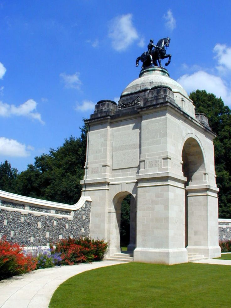 Delville Wood   Bronze Sculpture Bronze sculpture on the top of the Memorial's arch.