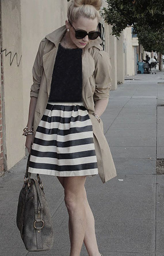 19 best striped black and white skirt images on Pinterest