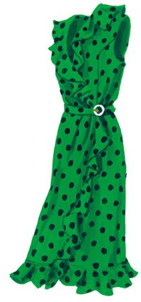 I'd try this on for the style -- not sure about the color.  Eccentricity Dress > Dresses | The J. Peterman Company