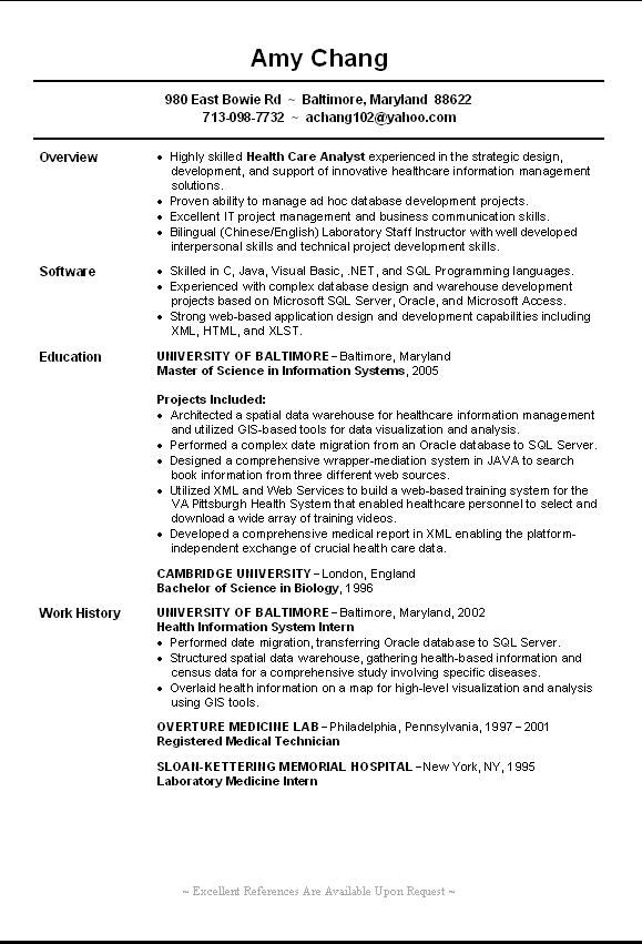Sample Resume of Biology Instructor Resume