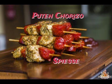 Puten Chorizo Spieße - #tobiasgrillt