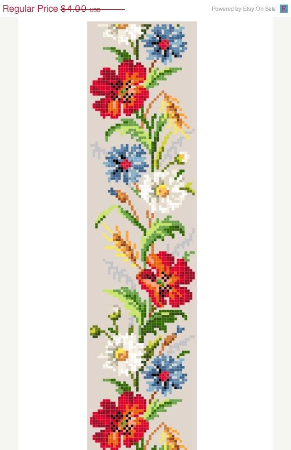 End of the year sale Les fleurs des champs. Cross by rolanddesigns