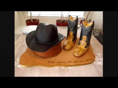 Pastel sombrero y botas vaqueras