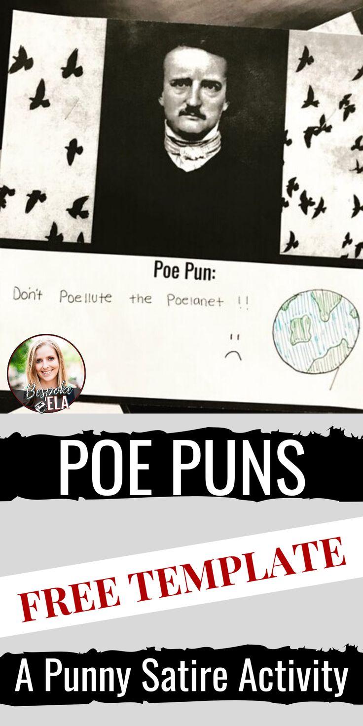 Poe Puns A Punny Satire Activity Satire, Puns, Essay
