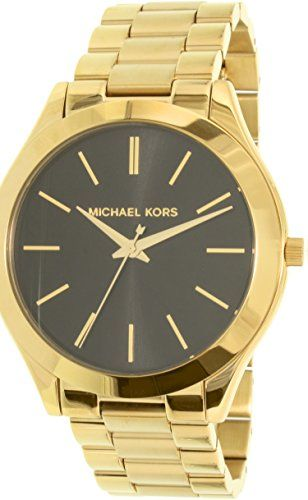 Michael Kors Womens Slim Runway GoldTone Watch MK3478 *** You can find more deta...