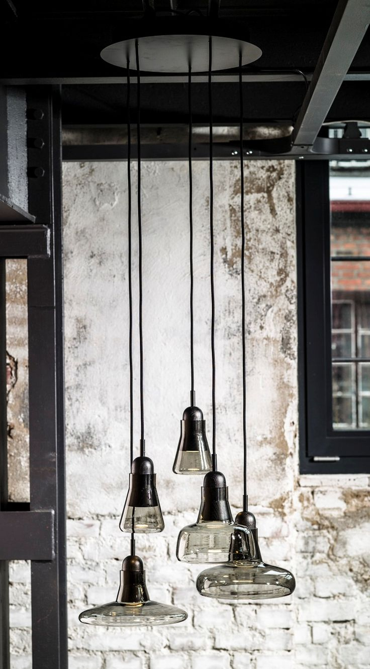 glass pendant lights | 'Shadows' collection, designed by Lucie Koldová and Dan Yeffet for Brokis