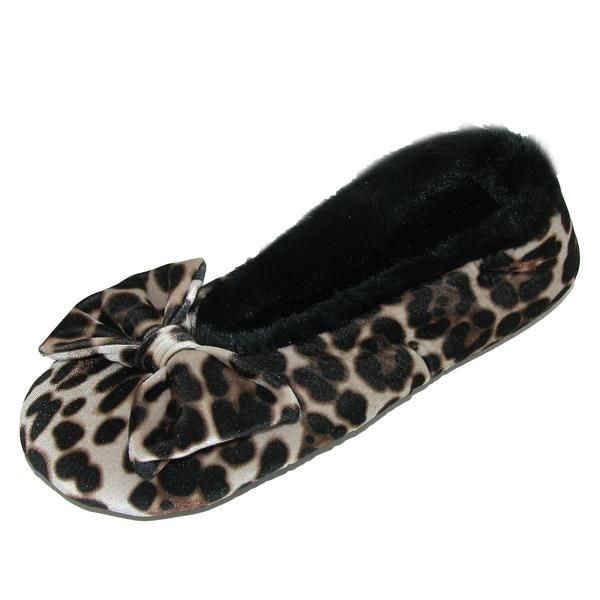 animal print slippers ladies