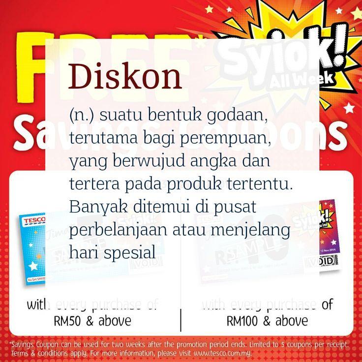Definisi kata: Diskon