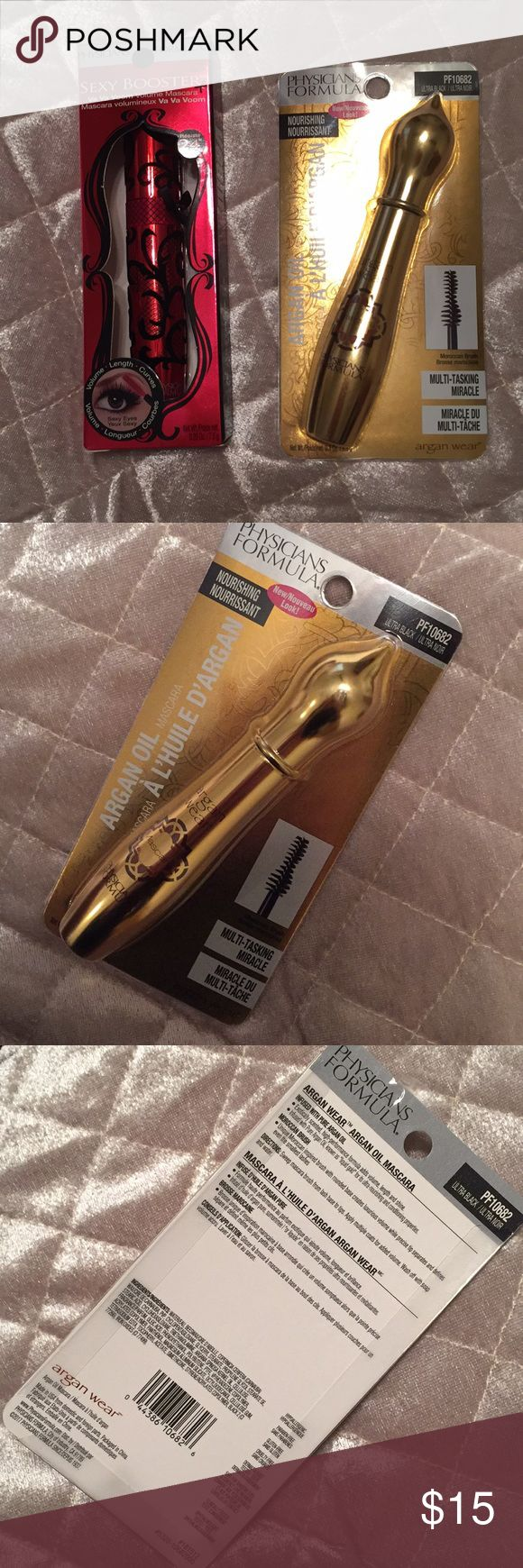 2 New Physicians Formula Mascaras 2 New Physicians Formula Mascaras. Both mascaras included. The gold package is Ultra Black. The red package is Black. Physicians Formula Makeup Mascara
