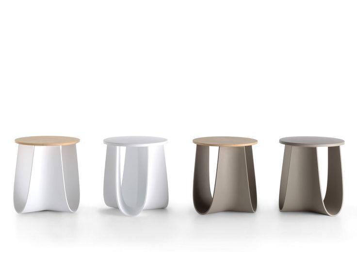Polyurethane stool / coffee table SAG by MDF Italia design Nendo