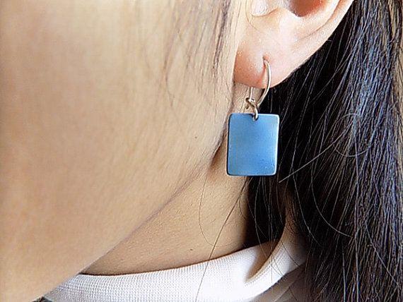 titanium earrings by atermono on Etsy