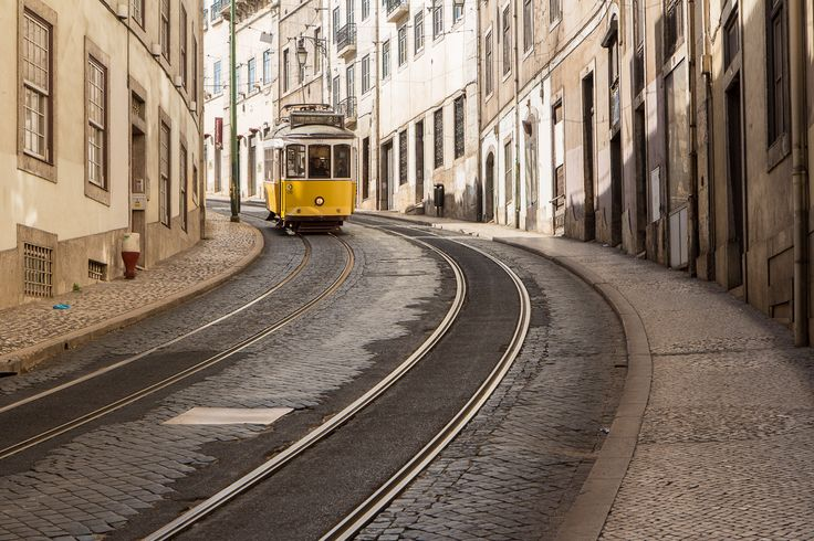 Tram 28 of Lisbon Portugal - The way to travel in Lisbon is with the tram, its for the locals and tourists. Tram 28 of Lisbon Portugal. It gives you the best view of Lisbon in the typical transportation of the city.