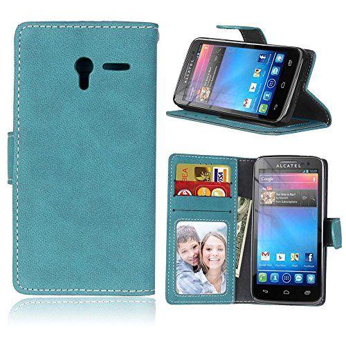 BONROY® Coque pour Alcatel One Touch Pixi 3 (4,5 Zoll),Housse en cuir pour Alcatel One Touch Pixi 3 (4,5 Zoll),imprimé étui en cuir PU Cuir…