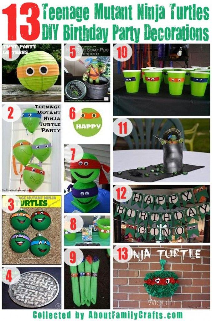 13 Diy Tmnt Party Decorations Ninja Turtles Birthday Party