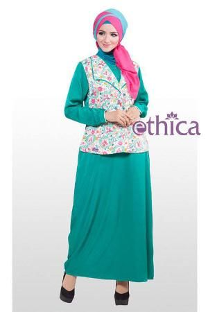 Baju Dress Ethica Gamis GM 30 Toska