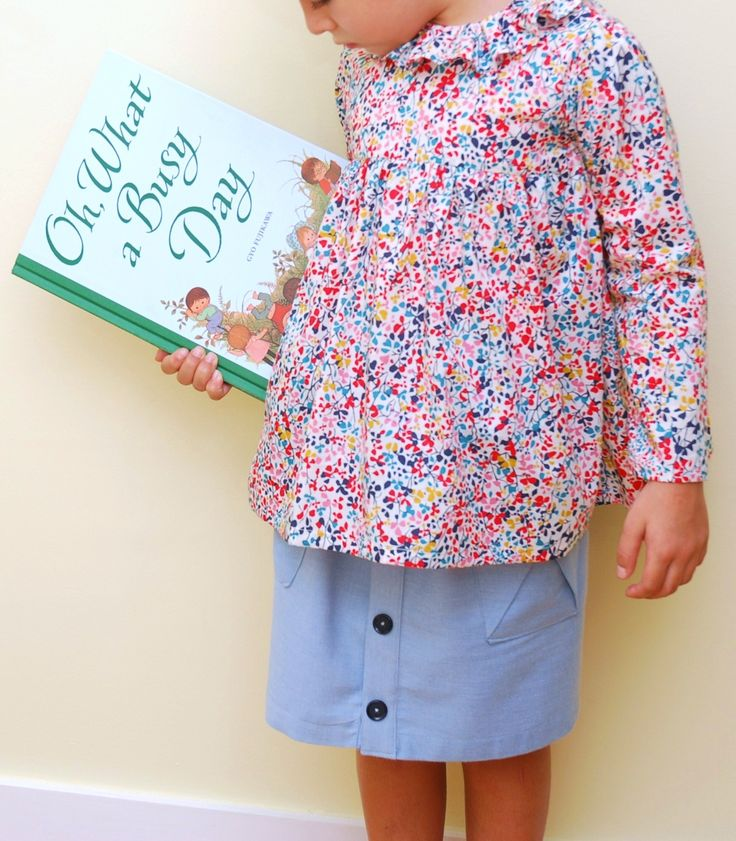 S is for Sewing | Oliver and S Hopscotch Skirt and Citronille Myrantine blouse in Liberty