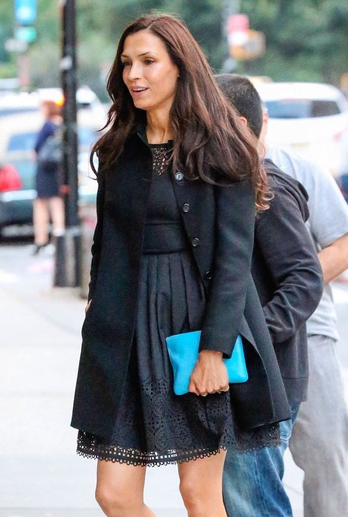 Famke Janssen Out And About In NYC