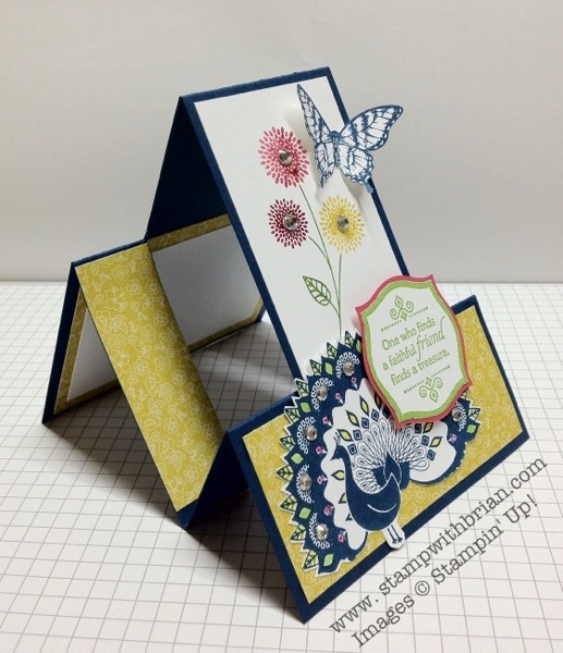 """Step-by-step instructions to make a stair step card that fits in a standard 5-3/4""""x4-3/8"""" envelope, Stampin' Up!"""
