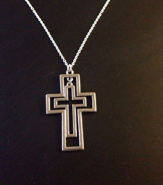 Cross Pendant Necklace on Etsy, £8.00
