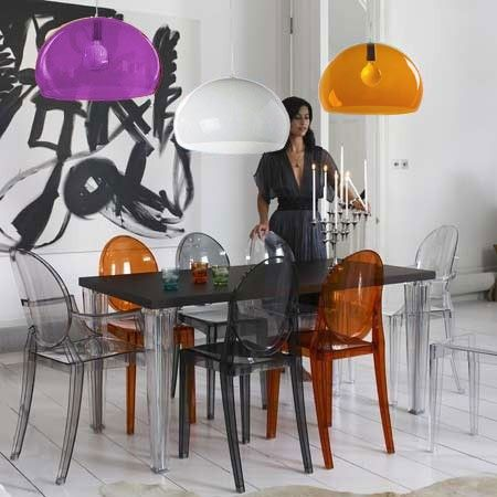 Play with colors - FL/Y by Ferruccio Laviani and Victoria Ghost by Philippe Starck