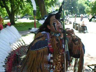 Выступление индейцев племени чероки в Таллине