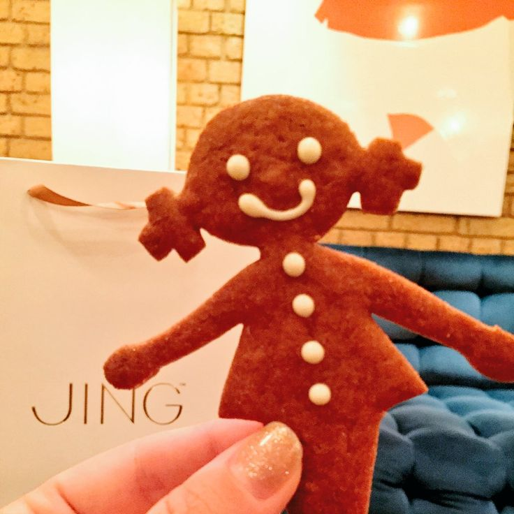 Gingerbread lady at Pont St, Belgraves Hotel. Their Christmas afternoon tea is really something special.