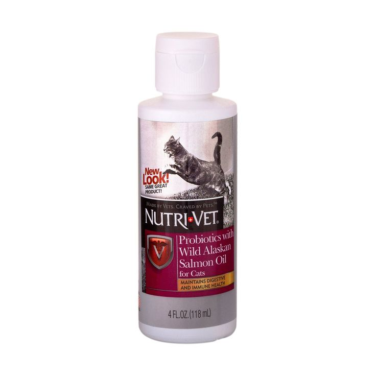 Nutri-Vet Probiotics with Wild Alaskan Salmon Oil for Cats, 4-Ounce *** Check this awesome product by going to the link at the image.