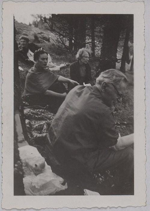 Frida Kahlo, Leon Trotsky y Natalia Sedova